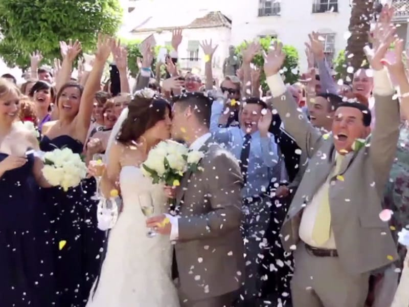 A Perfect White Wedding in Spain