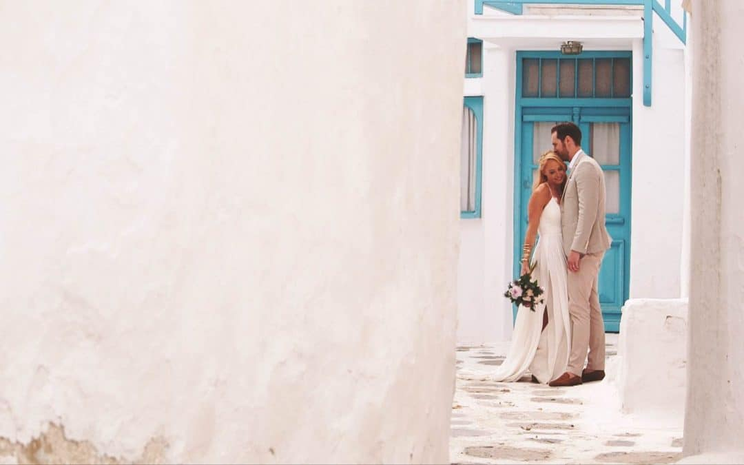 James + Sophie's Geometric Boho Themed Destination Mykonos Wedding