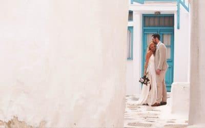 James + Sophie's Geometric Boho Themed Destination Mykonos Wedding