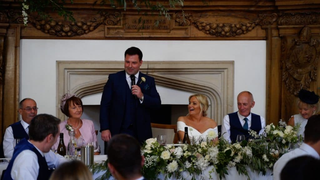Wedding speech by the groom