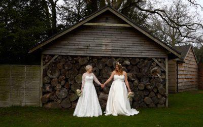 Natasha & Emma's Colourful Spring Wedding at Northbrook Park , Surrey